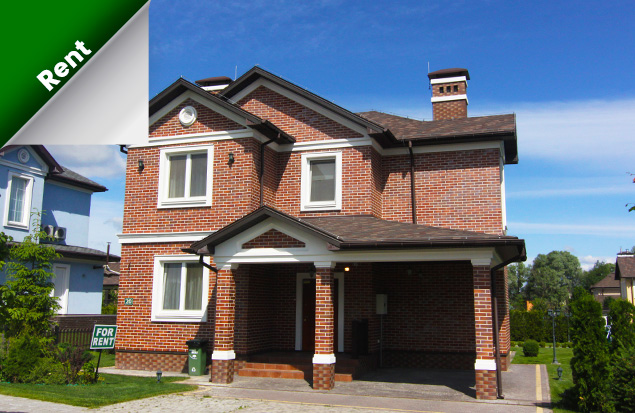 For rent finished house Ottawa with three bedrooms on a plot of 8 ares.