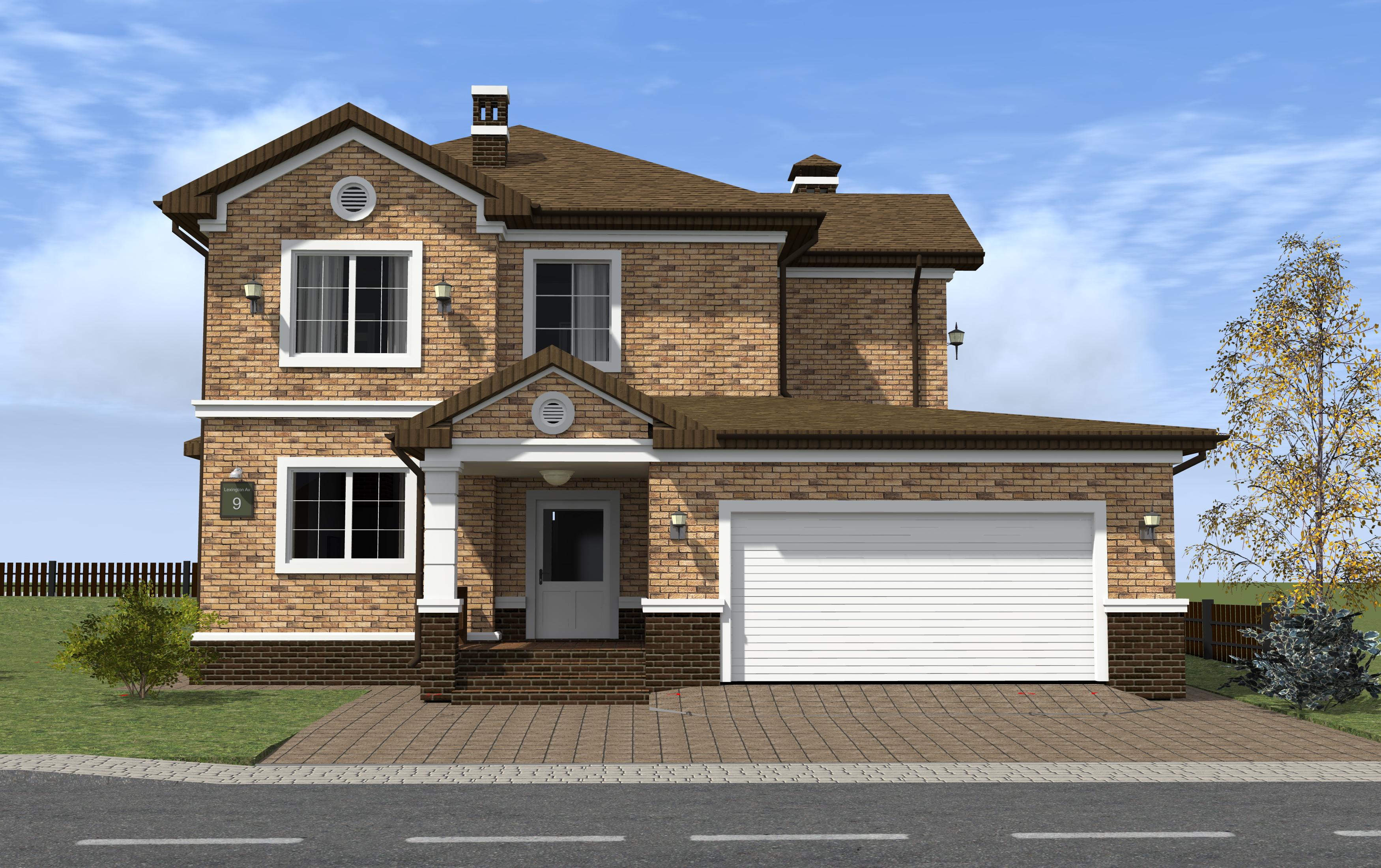 Richmond #54 is a great representative of the colonial style with spacious layouts and garage for two cars.